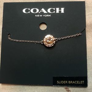 Coach Slider Bracelet Rose Gold